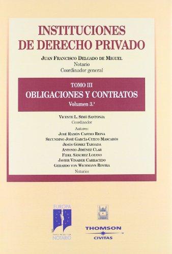 9788447019892: Obligaciones y Contratos. Tomo III volumen 3º (Instituciones de Derecho Privado)