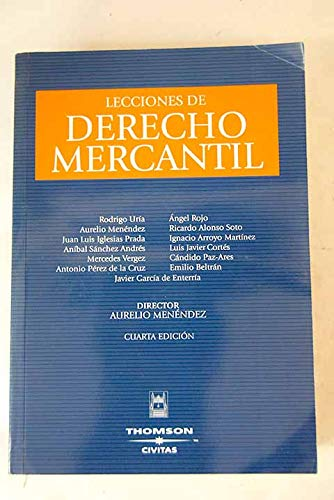 9788447026593: Lecciones de derecho mercantil