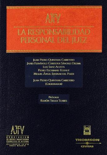 9788447029587: La responsabilidad personal del juez (Estudios y Comentarios de Legislación)