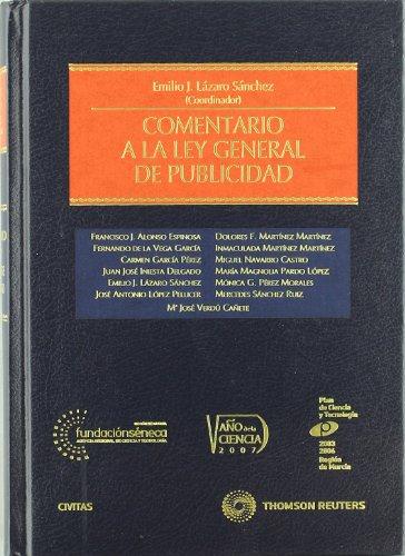9788447031726: Comentario a la Ley General de Publicidad (Estudios y Comentarios de Legislación)