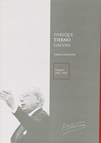 9788447033959: TIERNO GALVAN. OBRAS COMPLETAS TOMO V (76-78)