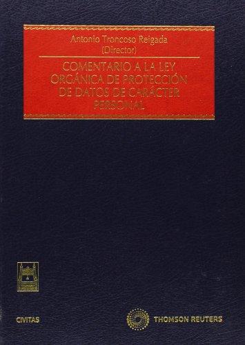9788447034239: Comentario a la Ley Organica de Proteccion de Datos