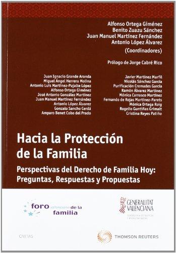 9788447034956: Hacia la protección de la familia: Perspectivas del Derecho de familia hoy: preguntas, respuestas y propuestas