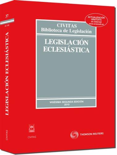 9788447034963: Legislación Eclesiástica