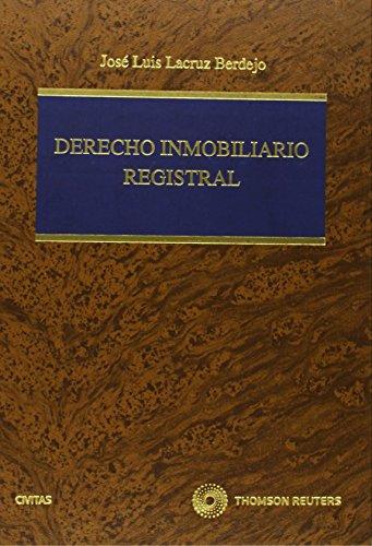 9788447035762: Derecho inmobiliario registral (Edición facsimil) (Monografía)