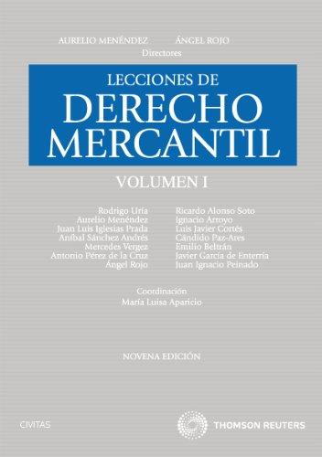 9788447036363: LECCIONES DE DERECHO MERCANTIL VOL.I (9ª ED.)
