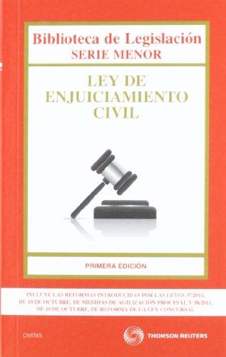 9788447036936: Ley de Enjuiciamiento Civil (Biblioteca de Legislación - Serie Menor)