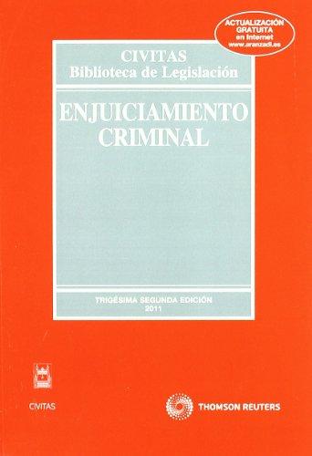 9788447037322: Enjuiciamiento Criminal (Biblioteca de Legislación)