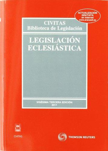 9788447037537: Legislación Eclesiástica