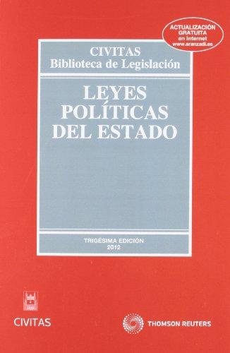 9788447039098: Leyes Políticas del Estado (Biblioteca de Legislación)