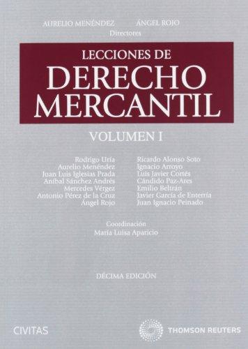 9788447039265: Lecciones de Derecho Mercantil Volumen I
