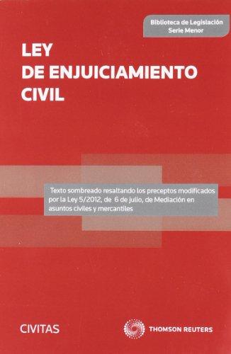 9788447040452: Ley de Enjuiciamiento Civil (Biblioteca de Legislación - Serie Menor)