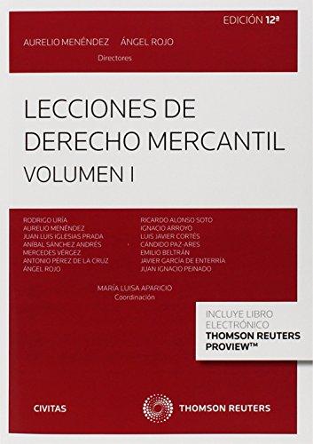9788447049349: Lecciones de Derecho Mercantil Volumen I (Papel + e-book) (Tratados y Manuales de Derecho)