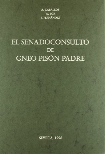 9788447203321: SENADOCONSULTO GNEO PISON PADRE