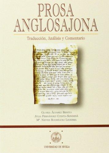 9788447204052: Prosa anglosajona: Traducción, análisis y comentario (Manuales Universitarios)