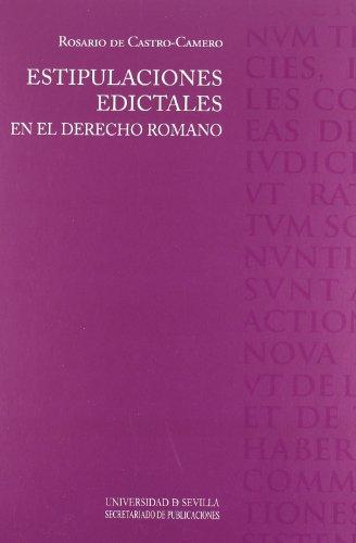 9788447211906: Estipulaciones edictales en el derecho romano