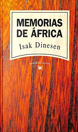 9788447300105: Memorias De Africa