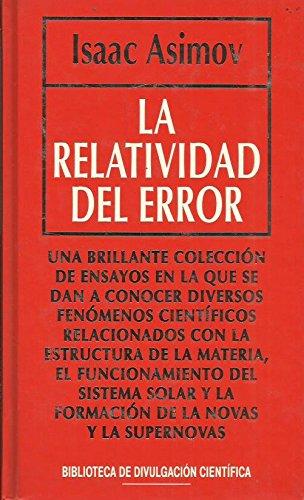 9788447306183: La relatividad del error