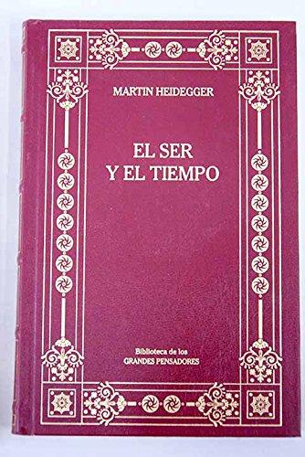 Ser y tiempo: Heidegger, Martin