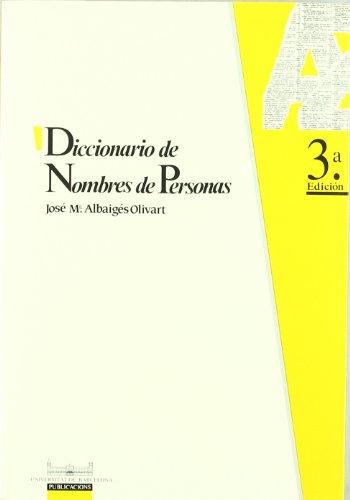 9788447502646: Diccionario de nombres de personas