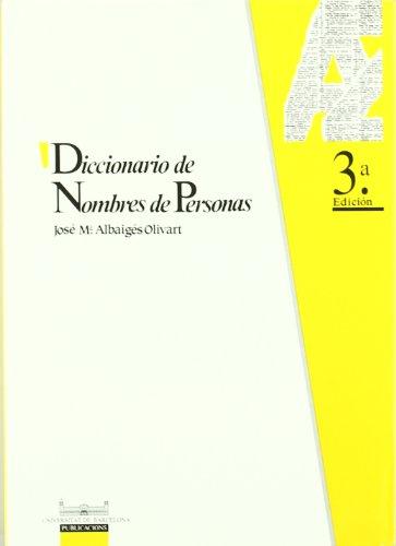 9788447502653: Diccionario de nombres de personas