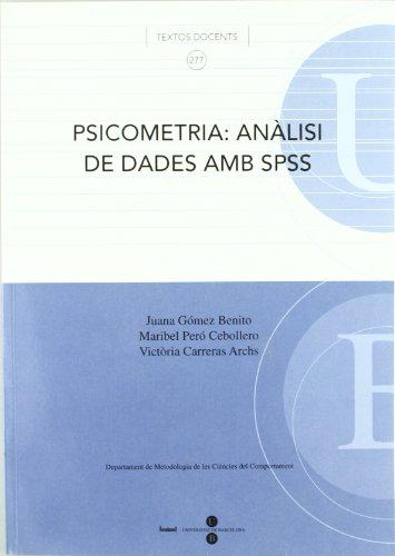 9788447529148: PSICOMETRIA: ANALISI DE DADES AMB SPSS