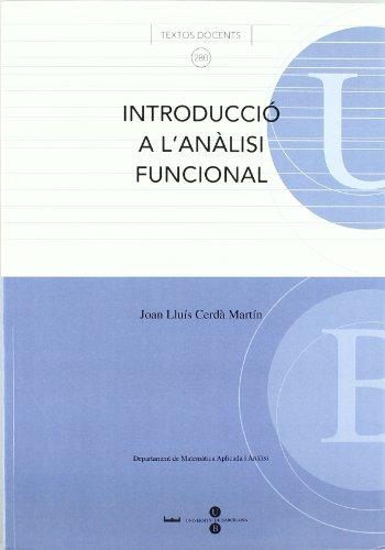 9788447529346: Introducció a l'anàlisi funcional