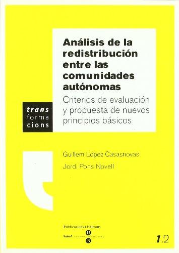 Análisis de la redistribución entre las comunidades: Guillem Lopez i