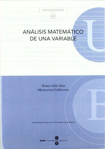 9788447533343: ANALISIS MATEMATICO DE UNA VARIABLE
