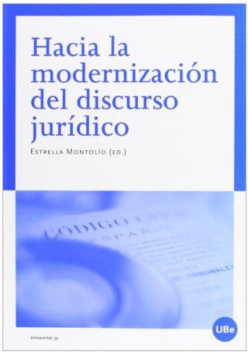 9788447536092: Hacia la modernización del discurso jurídico (UNIVERSITAT)