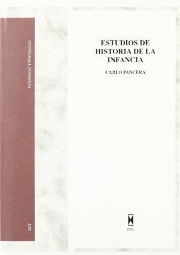 9788447700325: Estudios de historia de la infancia