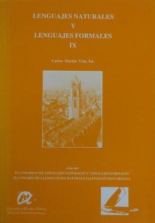 Lenguajes naturales y lenguajes formales IX: Actas: Vide, Carlos Martin