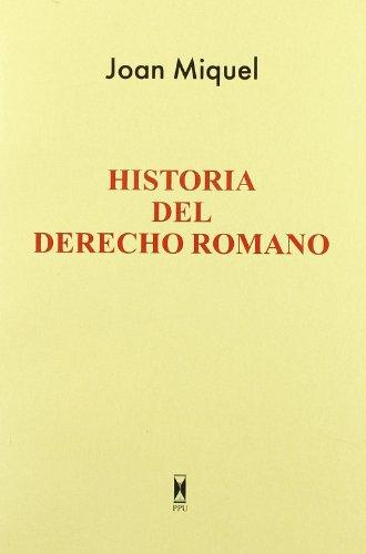 9788447704989: Historia del derecho romano
