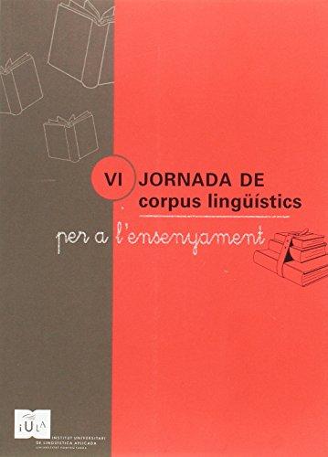 9788447707133: VI JORNADA DE CORPUS LINGUISTICS