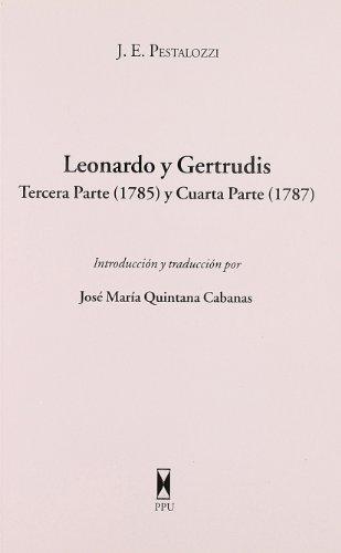 Leonardo y gertrudis: Pestalozzi, J.E.