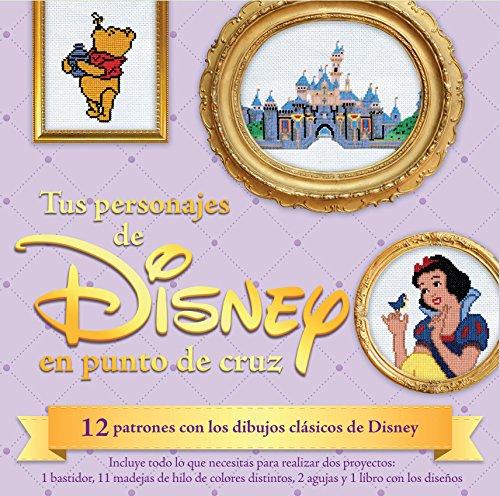 9788448019655: Kit Tus personajes de Disney en punto de cruz: 12 patrones con los dibujos clásicos de Disney