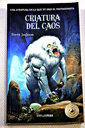 9788448036089: Criatura del caos (Timun Mas Libro Aventura) (Spanish Edition)
