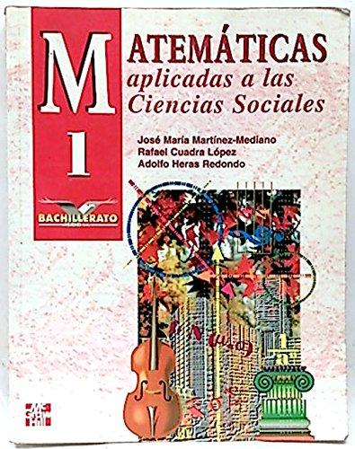 9788448104382: Matematicas aplicadas a las ciencias sociales