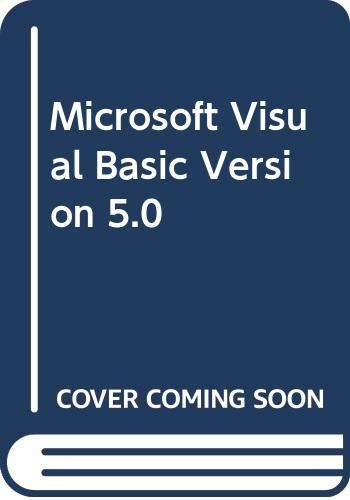 9788448113810: Microsoft Visual Basic Version 5.0 (Spanish Edition)