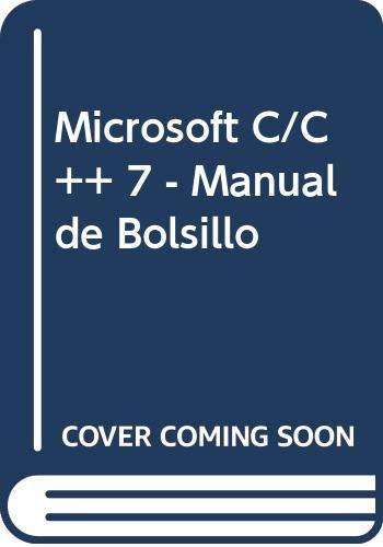 9788448119812: Microsoft C/C++ 7 - Manual de Bolsillo (Spanish Edition)