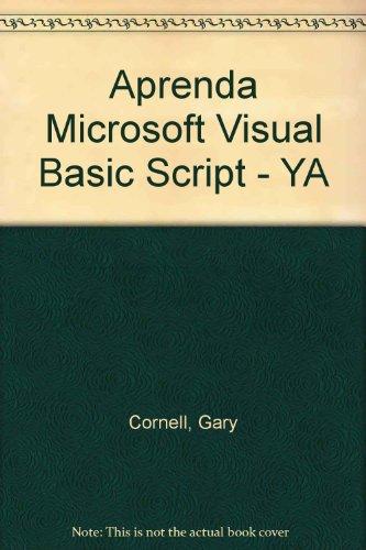 9788448120047: Aprenda Microsoft Visual Basic Script - YA (Spanish Edition)