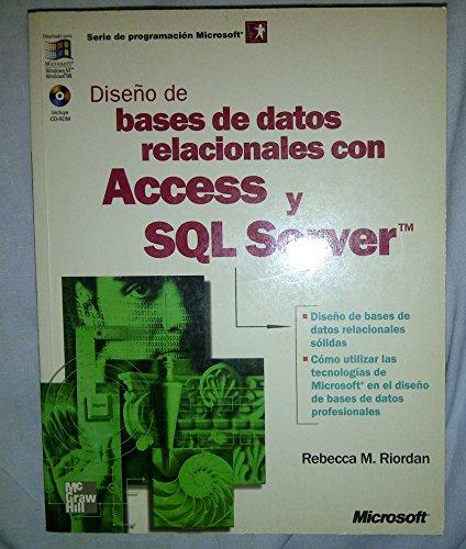 9788448127701: Diseno de Bases de Datos Relacionales Con Access (Spanish Edition)
