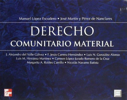 9788448127732: Derecho comunitario material