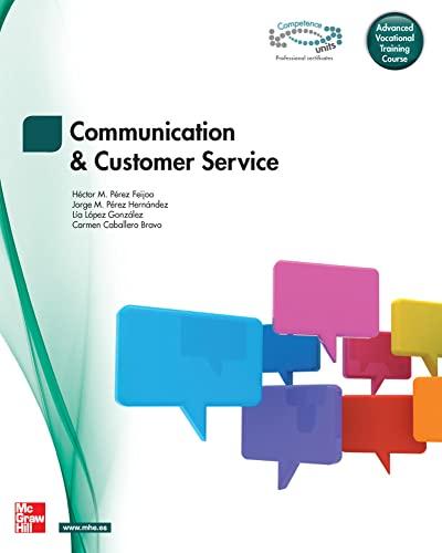 9788448180867: Communication and customer service