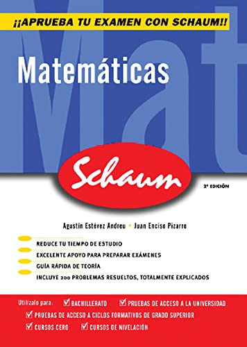 9788448198534: Schaum, matemáticas, Bachillerato