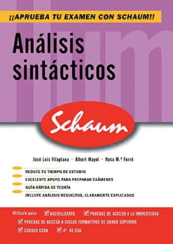 9788448198626: Analisis sintacticos. Schaum - 9788448198626