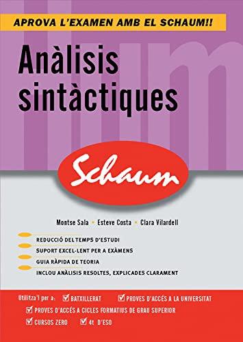 9788448198633: Analisis Sintactiques (Schaum Selectivitat)