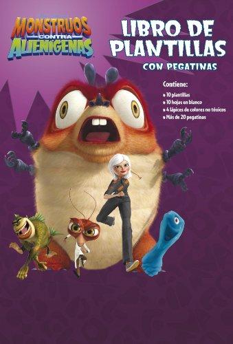 Monstruos contra Alienígenas. Libro de plantillas con pegatinas - DreamWorks Animation