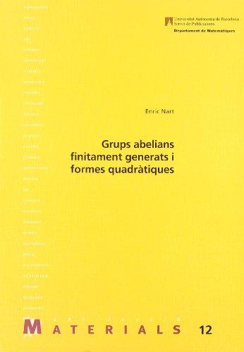 Grups abelians finitament generats i formes quadràtiques (Paperback): Enric Nart