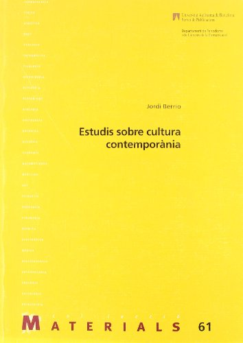 Estudi sobre cultura contemporania (Paperback): Jordi Berrio